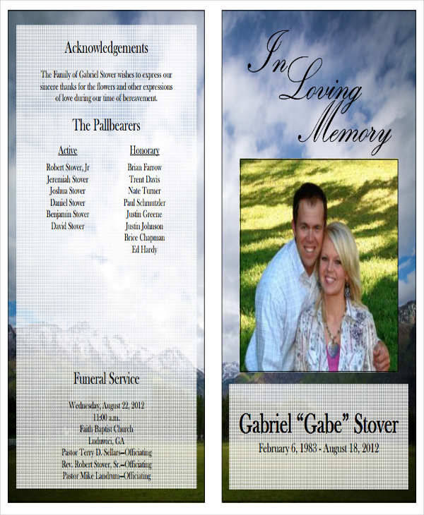 6+ Sample Funeral Program - Free Sample, Example, Format Download