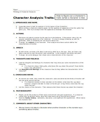 general character analysis