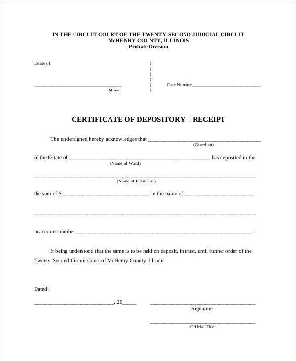 general depository receipt