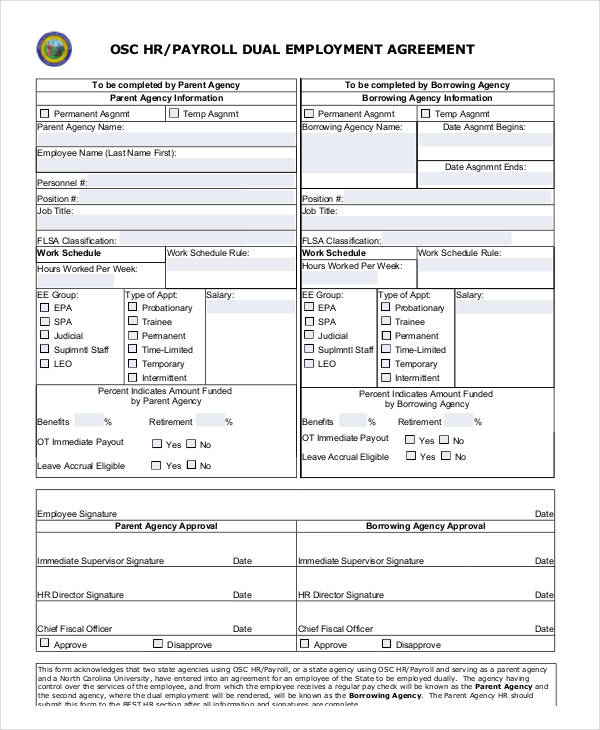 Hr Contract Samples  Templates  Pdf Doc
