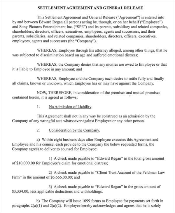 general release agreement