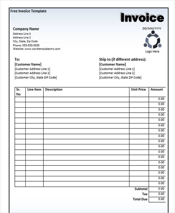generic business invoice