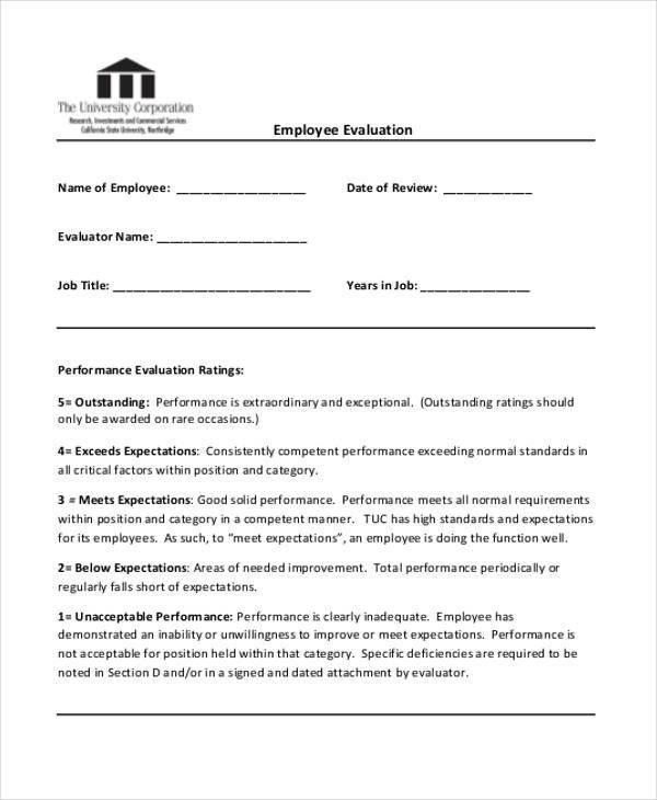 generic employee evaluation2
