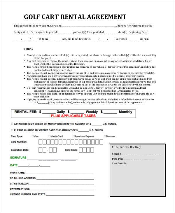 golf cart rental contract1