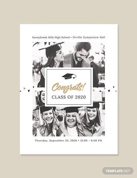 graduation ceremony poster template
