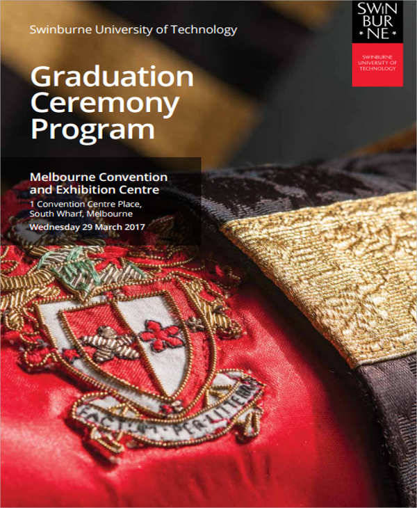 graduation ceremony program