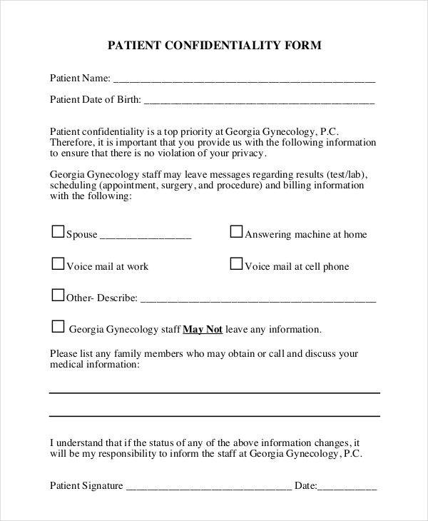 gynecologists patient agreement form