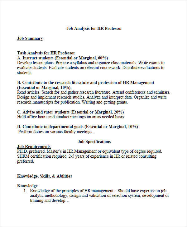 hr job analysis