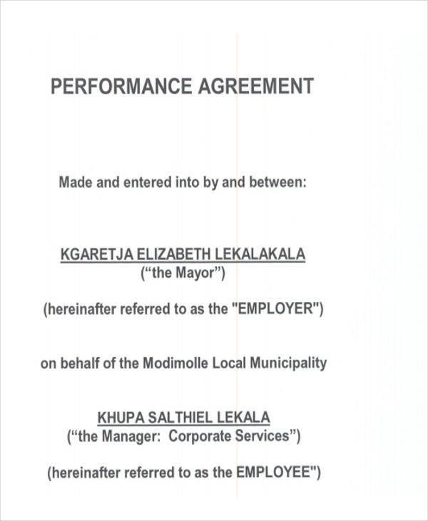 hr performance agreement