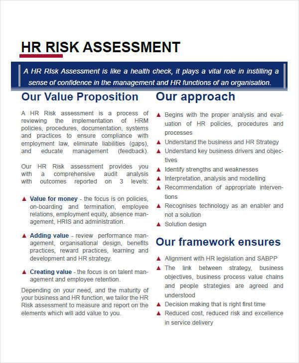 hr risk assessment