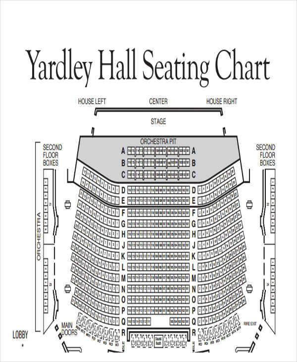hall floor seating chart