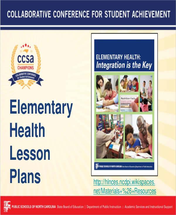 health lesson plan