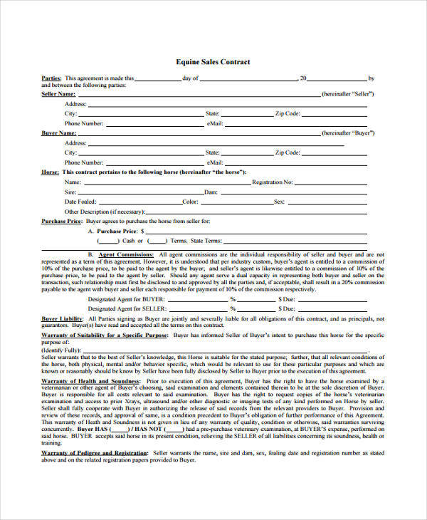 Sales Agent Contract Samples  Templates  Pdf Doc