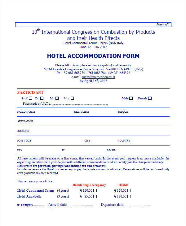 hotel accommodation invoice1