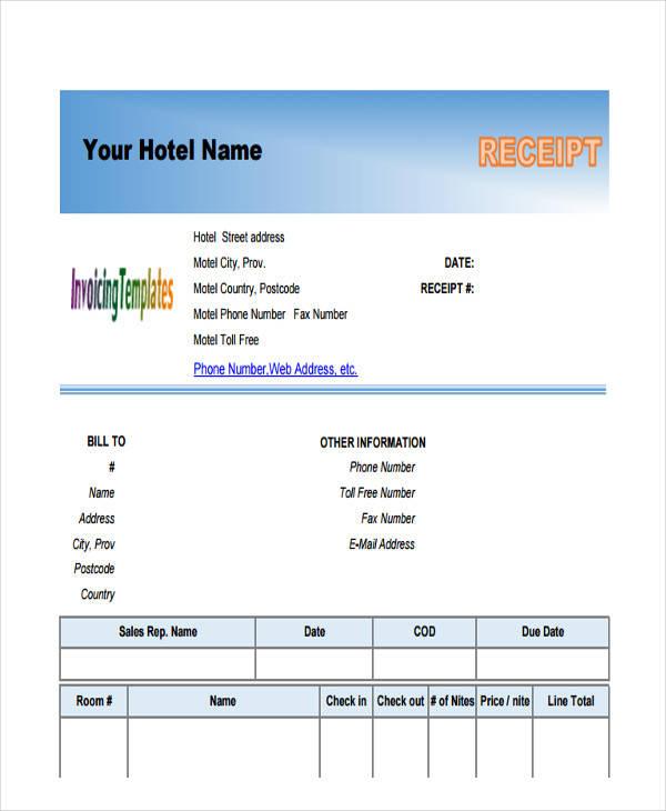 hotel bill invoice
