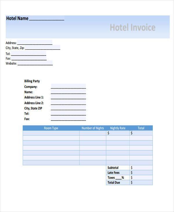 hotel invoice1