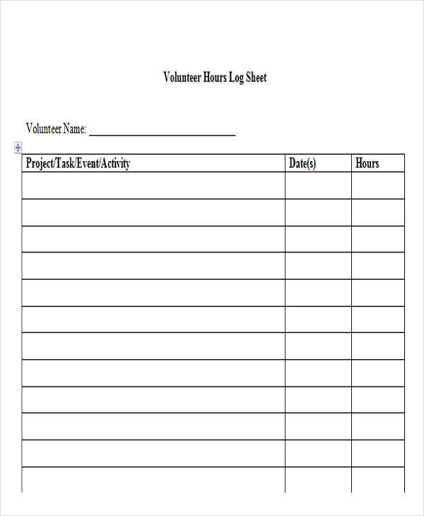 38 log templates in word