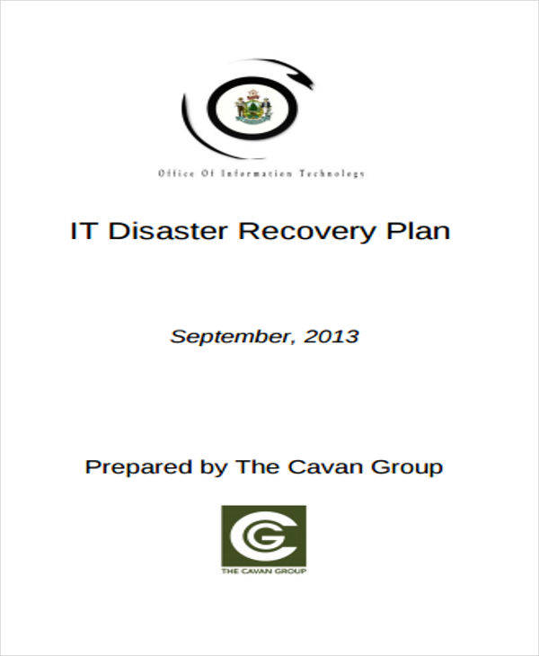 it disaster recovery plan1