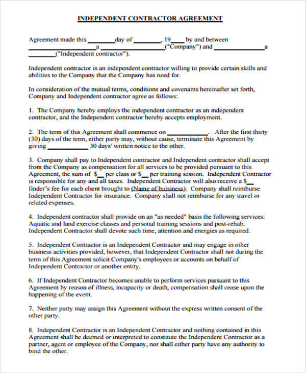 independent business contract1