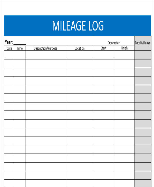 individual mileage log