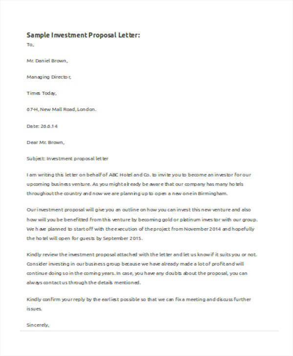 Investment-Letter-Proposal Investor Match Letter Template on investor commitment letter, investor docstoc templates, investor business letter example, investor solicitation letter, investor real estate templates, investor offering letter, investor letter update, investor proposal letter, press release template,