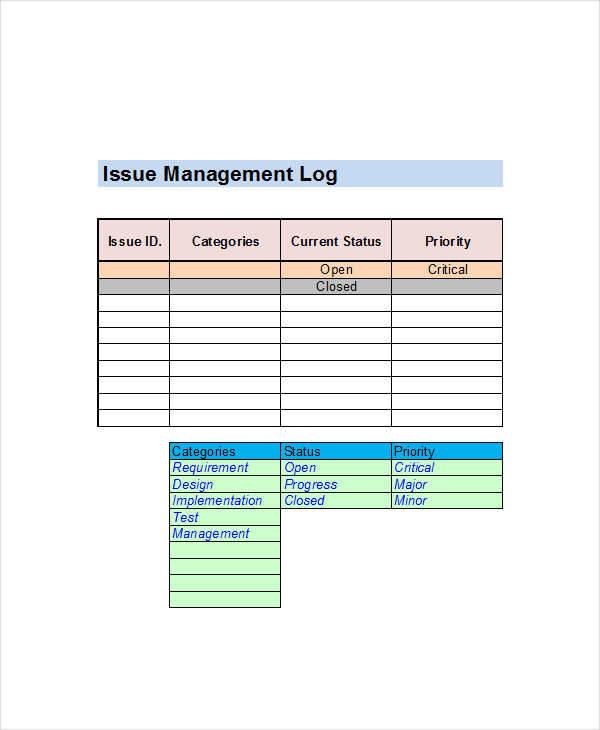 issue management log1