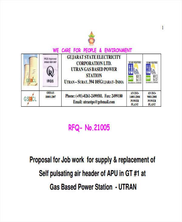 job work proposal