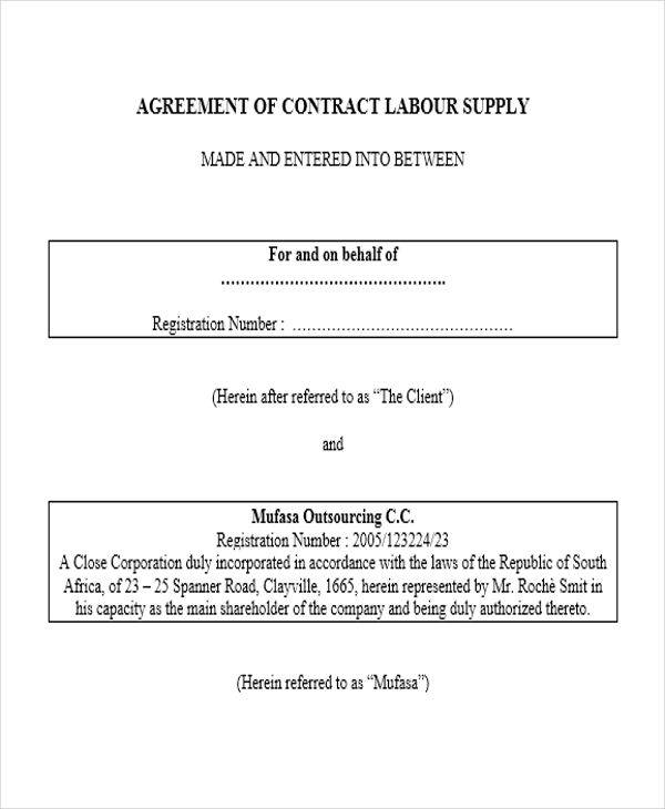 Supply Contract Samples  Templates  Pdf Doc