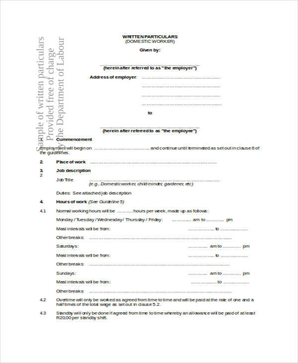 labour work contract1