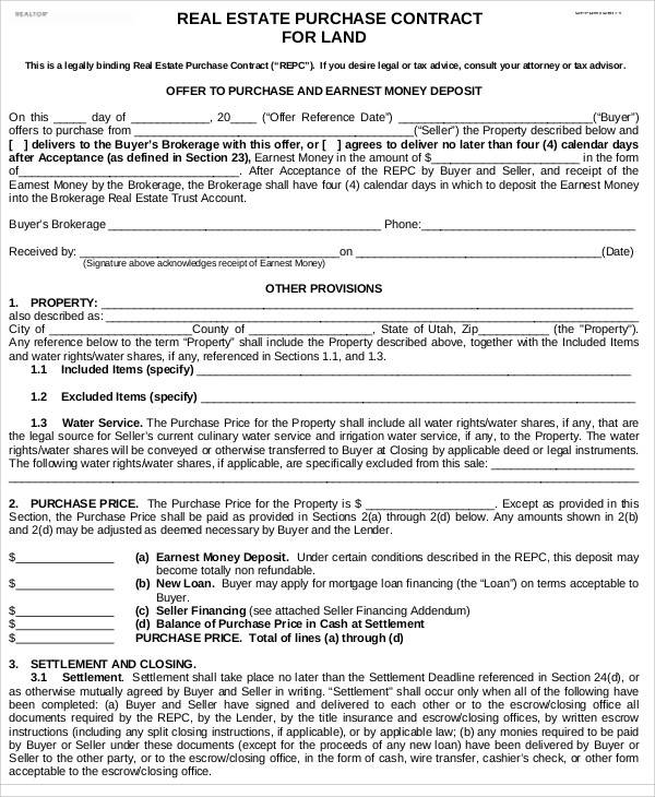 land purchase contract1