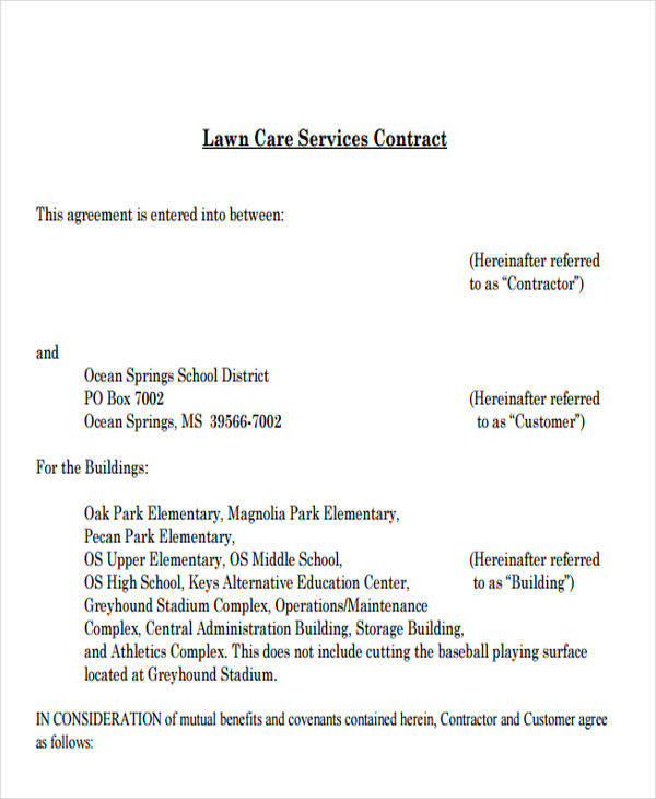 Service Contract Templates  Free Sample Example Format Download