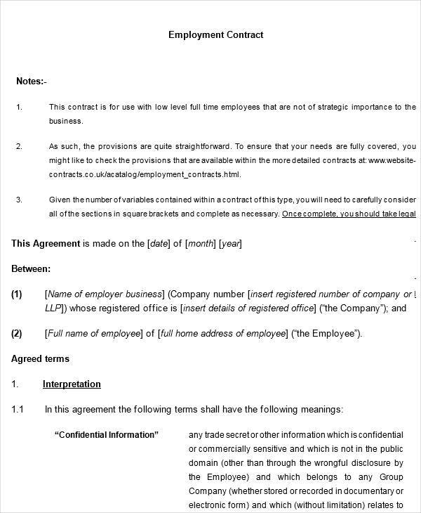 Legal Contract Templates  Free Sample Example Format Download