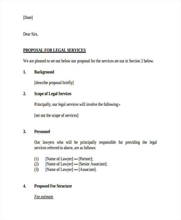 legal work proposal
