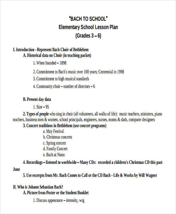 lesson plan for elementary school1