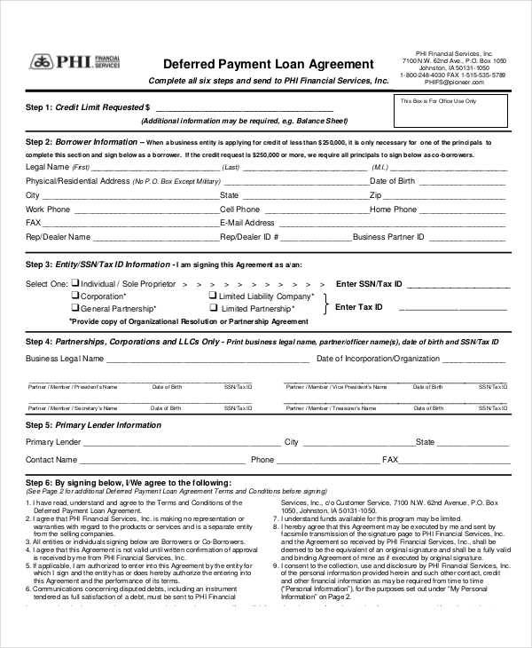 loan payment contract2