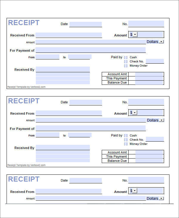 8 Loan Receipt Template Examples In Word Pdf