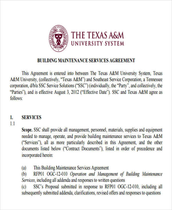 maintenance service agreement1