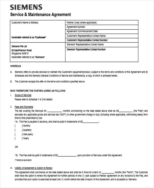 maintenance service contract2