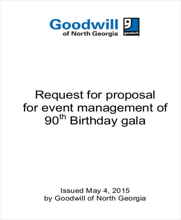 management proposal for event