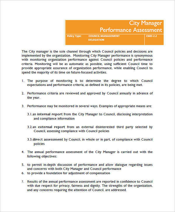 manager performance