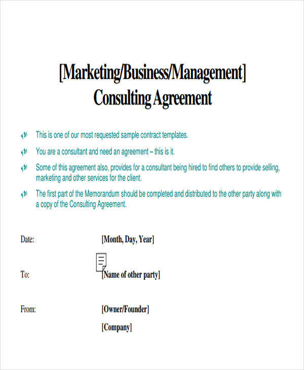 marketing consultant contract template - 45 sample contract templates sample templates