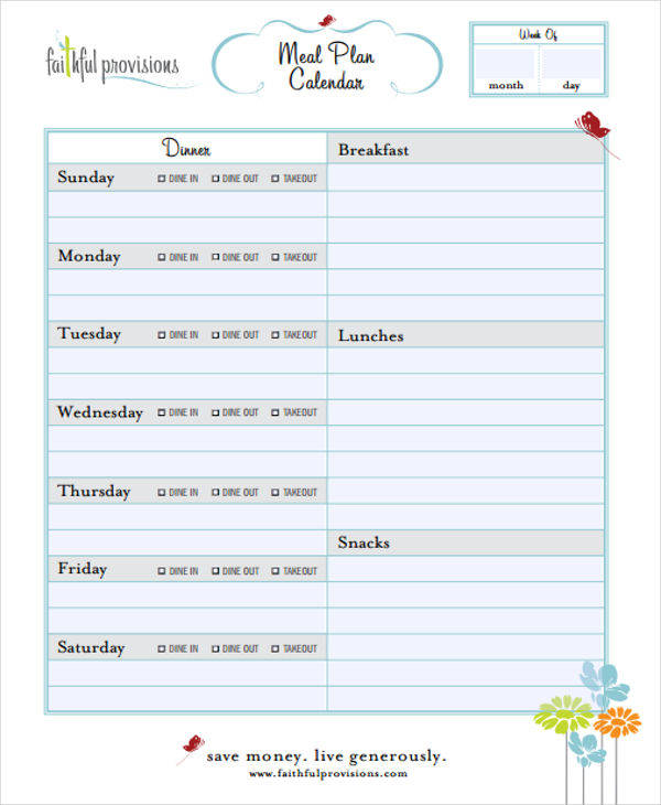 meal planner calendar1
