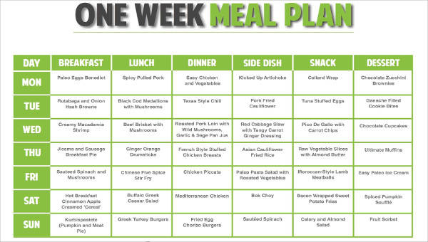 9 meal plan samples  u0026 templates