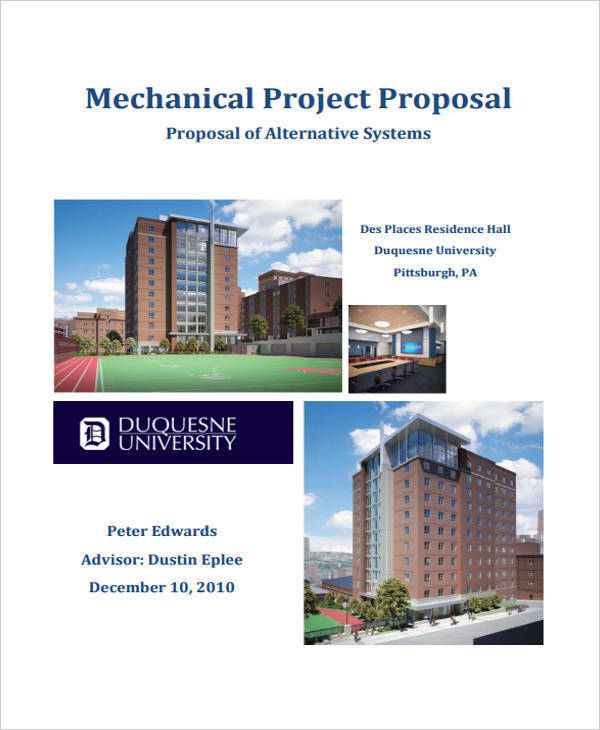 mechanical engineering proposal