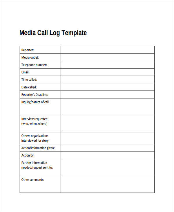 media call log