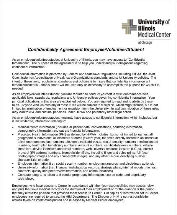 medical center employee agreement