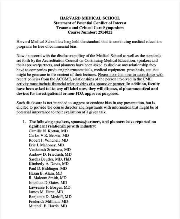 medical school statement
