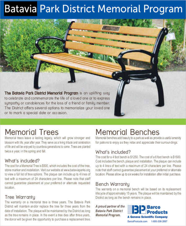 memorial event program