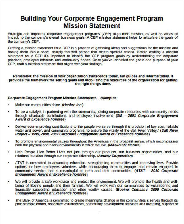 mission program statement