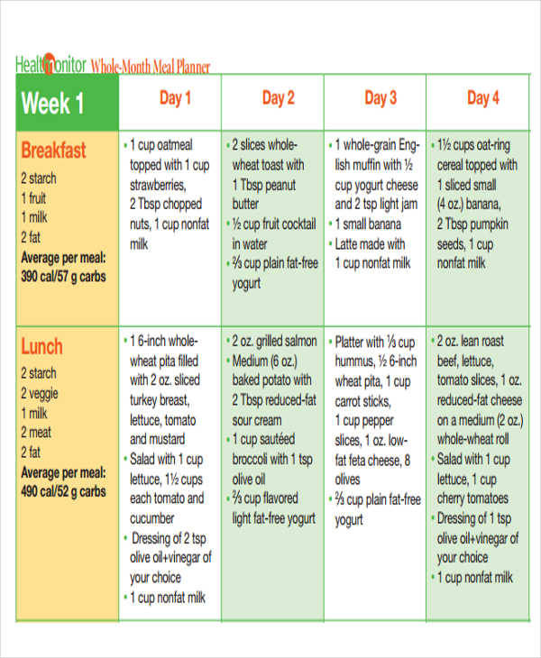 monthly food calendar1